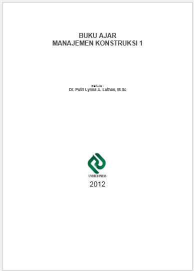 Buku Ajar Manajemen Konstruksi 1