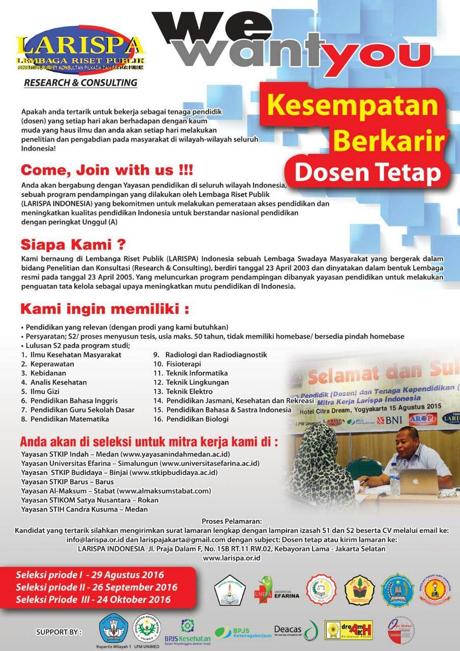 Mari Bergabung Bersama Kami, untuk Membangun Pendidikan yang Lebih Baik!!!