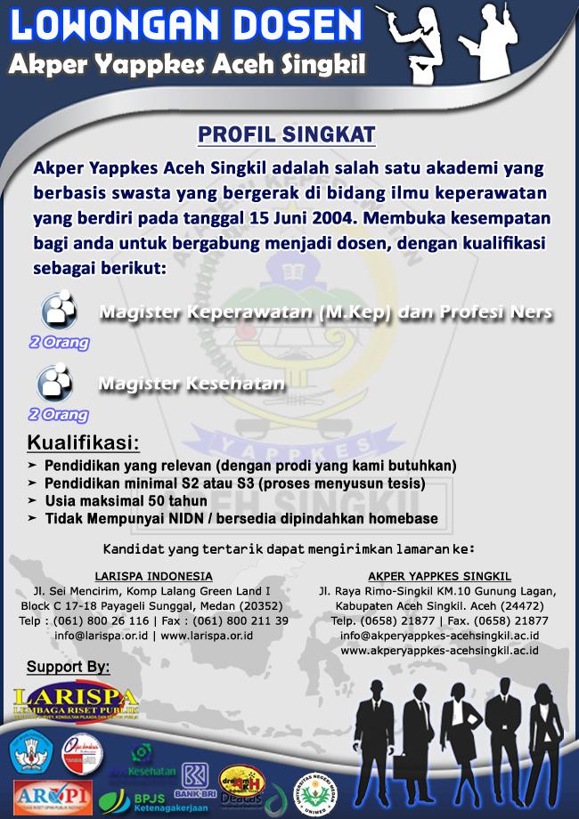 Lowongan Dosen Akper Yappkes Aceh Singkil