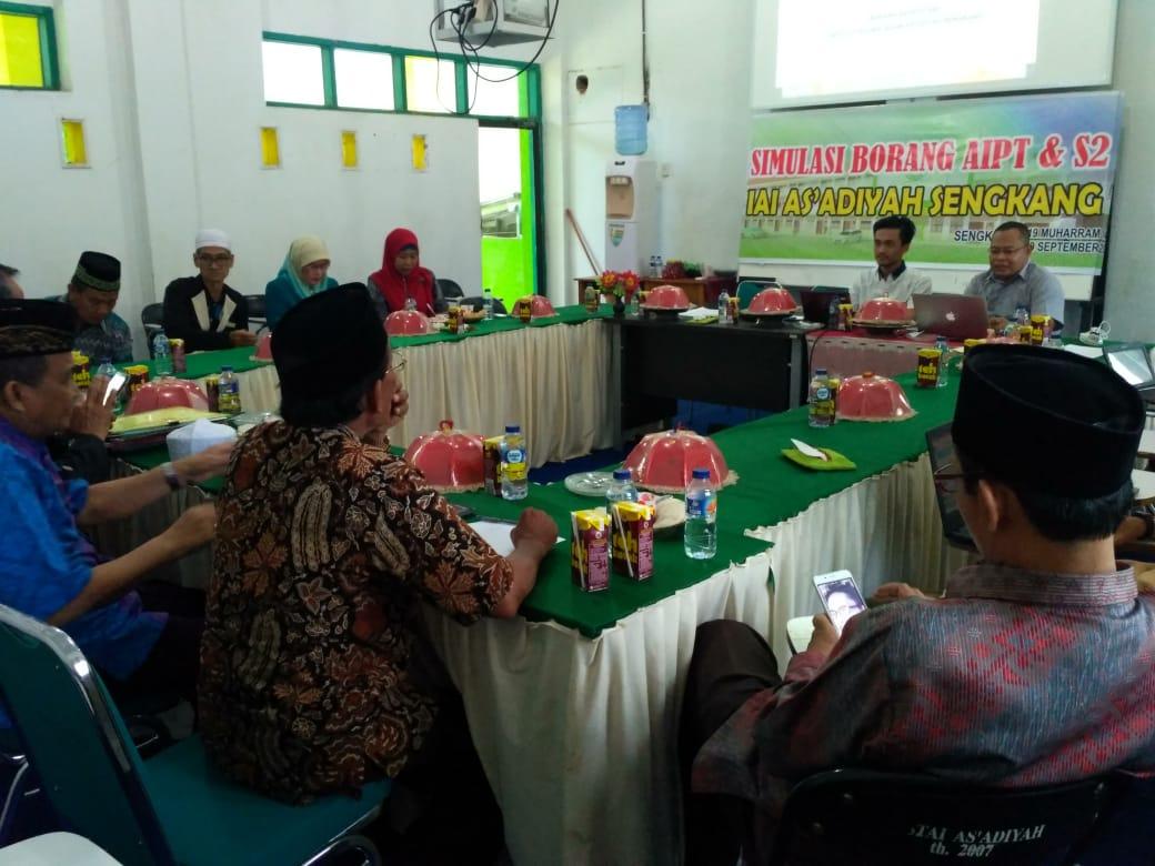 IAI As'adiyah Sengkang Sulawesi Selatan Melakukan Finalisasi Borang Prodi Magister Pendidikan Agama Islam dan Borang Aipt bersama Larispa Indonesia