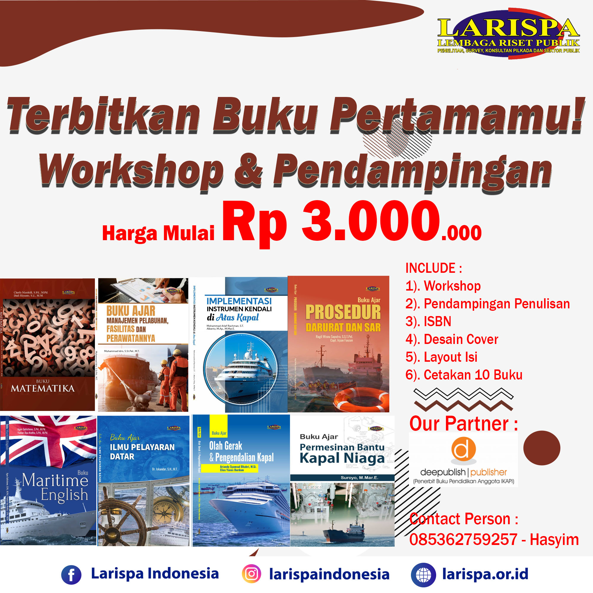 Terbitkan Buku Pertamamu Bersama Larispa Indonesia